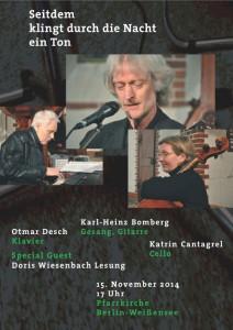 Plakat_Bomberg_Konzert_141115