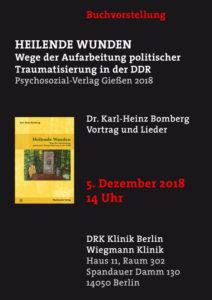 Wiegmann Klinik nächste buchlesung in der drk klinik berlin – 05.12.2018 - karl